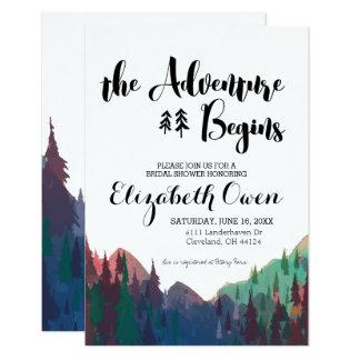 Brautparty-Einladung - Gebirgsthema Karte