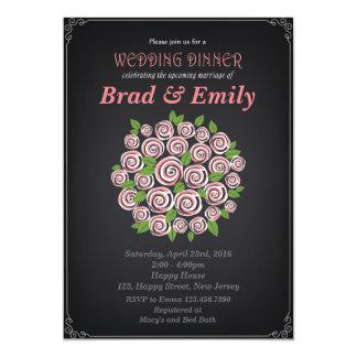 Brautparty-Einladung. Hochzeits-Abendessen Karte