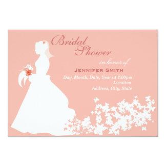 Brautparty-Einladung - rosa Kleid 12,7 X 17,8 Cm Einladungskarte