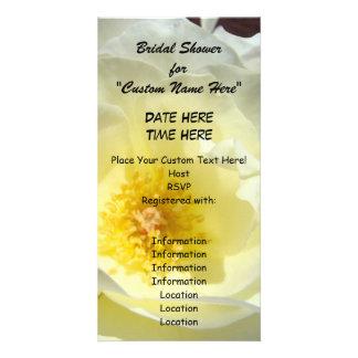 Brautparty für kundenspezifische Einladungs-Weiß-R Photokarte