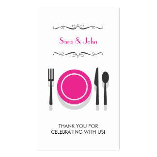 Brautparty-Geschenk-Umbau der Paar-| Visitenkarten Vorlage