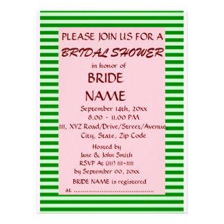 Brautparty - grüne Streifen rosa Hintergrund