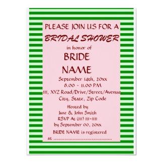 Brautparty - grüne Streifen, rosa Hintergrund