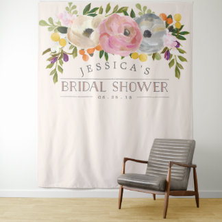 Bridal Shower Backdrop - Photo Booth Sweet Blooms