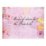 Brautparty-Hochzeit in Urlaubsort Postkarte