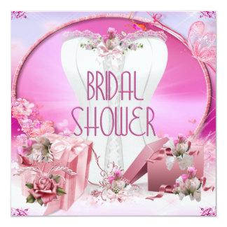 Brautparty-hübsches weißes rosa Korsett mit Blumen Individuelle Ankündigung