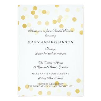 Brautparty-Imitat-Goldfolien-Glitter-Lichter 12,7 X 17,8 Cm Einladungskarte