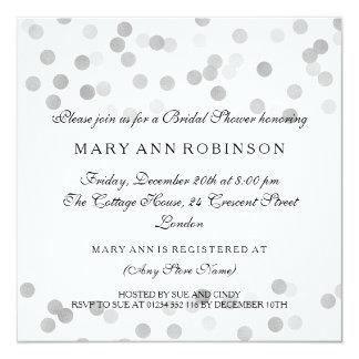 Brautparty-Imitat-silberne Folien-Glitter-Lichter Quadratische 13,3 Cm Einladungskarte