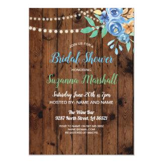 Brautparty laden blaues hölzernes Mit Karte