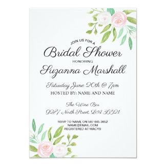 Brautparty laden die rosa weiße Blumen Blume ein Karte