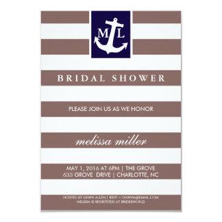 Brautparty laden - Seeinitialen ein Einladung