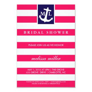 Brautparty laden - Seeinitialen ein Karte