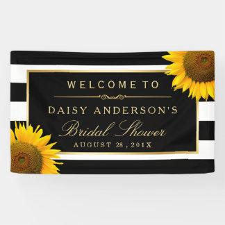 Brautparty-noble Sonnenblume-Schwarz-weiße Banner