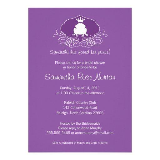 Brautparty Prinz-Frog Themed Einladungskarten