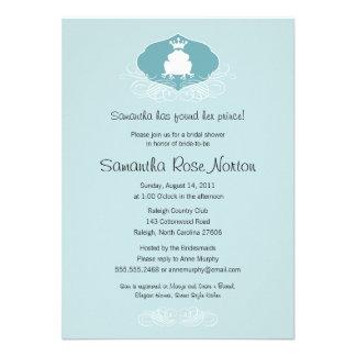 Brautparty Prinz-Frog Themed Individuelle Einladungen