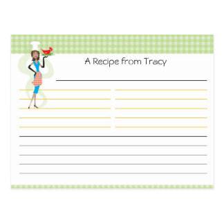 Brautparty-Rezept-Karte Postkarten