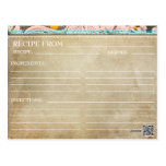 Brautparty-Rezept-Karten-rustikales Blumen Postkarte