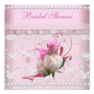 Brautparty-rosa Damast-Spitze-Hochzeit