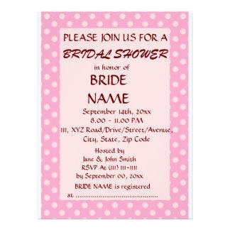 Brautparty - rosa Polka-Punkte rosa Hintergrund