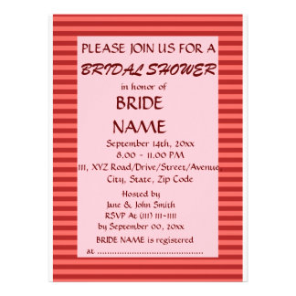 Brautparty - rote Streifen rosa Hintergrund