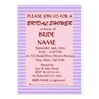 Brautparty - violette Streifen rosa Hintergrund