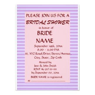 Brautparty - violette Streifen, rosa Hintergrund