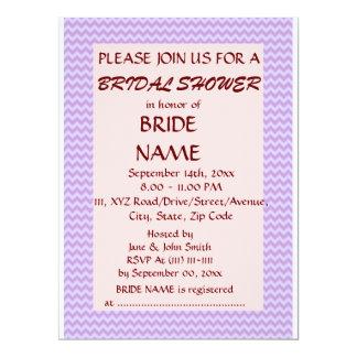 Brautparty - violetter Zickzack, rosa Hintergrund 16,5 X 22,2 Cm Einladungskarte
