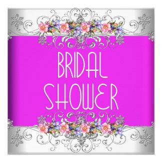 Brautparty-Wedding weiße rosa lila Blumen Personalisierte Ankündigungen