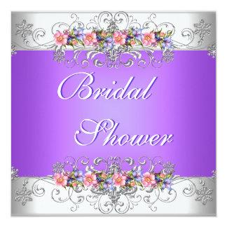 Brautparty-Wedding weiße rosa lila Blumen