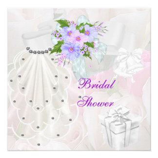 Brautparty-weiße Schleier-Flieder-Blume Ankündigungen