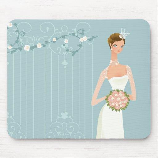 Brautpartyblumenstrauß Mousepad