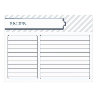 Brautpfau-Blau der rezept-Karten-| Postkarte