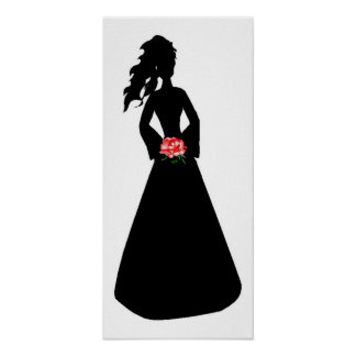 Brautplakat der Silhouette-III Plakatdrucke