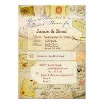 Brautreise-Duschenthema im Kakao und in der Creme 12,7 X 17,8 Cm Einladungskarte