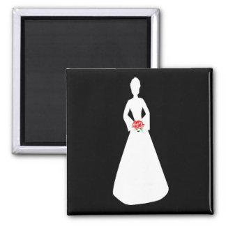 BrautSilhouette I Kühlschrankmagnet