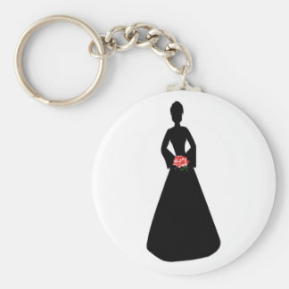 BrautSilhouette Schlüsselanhänger