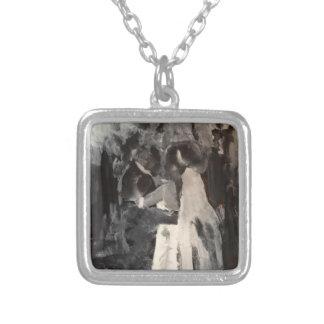 Brauttanz-Malerei-Halskette Versilberte Kette