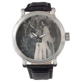 Brauttanz-Malerei-Uhr durch Willowcatdesigns Armbanduhr