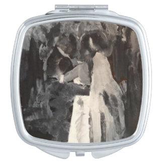 Brauttanz-Malereispiegel Taschenspiegel