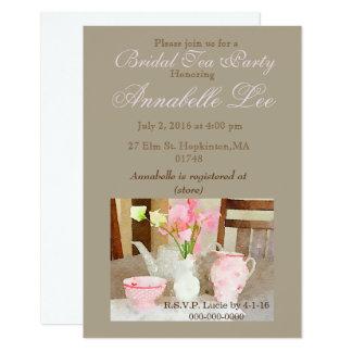 Brauttee-Einladung Karte