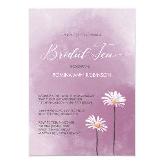 Brauttee-Party Einladung im lila