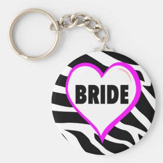 Brautzebra-Streifen Schlüsselband
