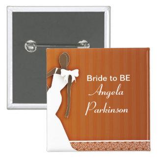 Brautzusätze und -geschenke für wedding quadratischer button 5,1 cm