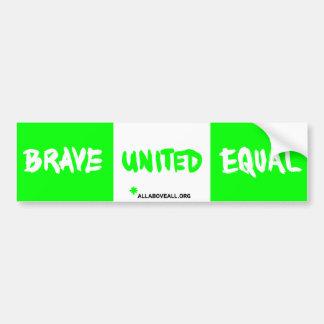 Brave vereinigtes Gleichgestelltes - Grün Autoaufkleber