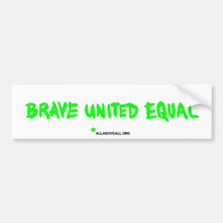 Brave vereinigtes Gleichgestelltes - Weiß Autoaufkleber