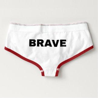 Bravewear Rot getrimmte Spandex-Memoranden Panties