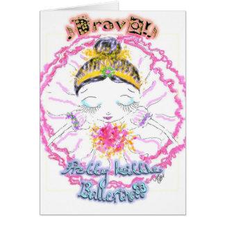 Bravo! für junge Ballerinen Karte