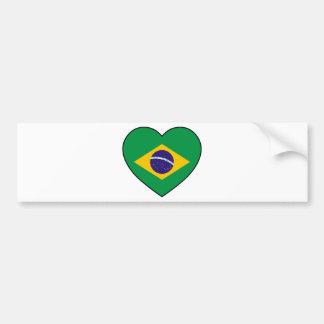 Brazil Heart Soccer Autoaufkleber