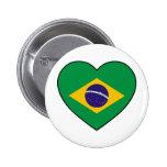 Brazil Heart Soccer Button
