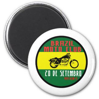 Brazil Motorrad club Runder Magnet 5,1 Cm